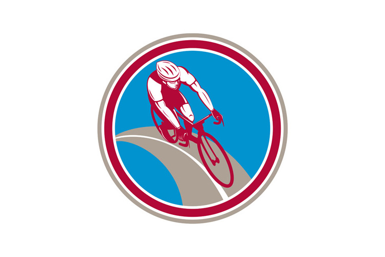 Cyclist Bicycle Rider Circle Retro example image 1
