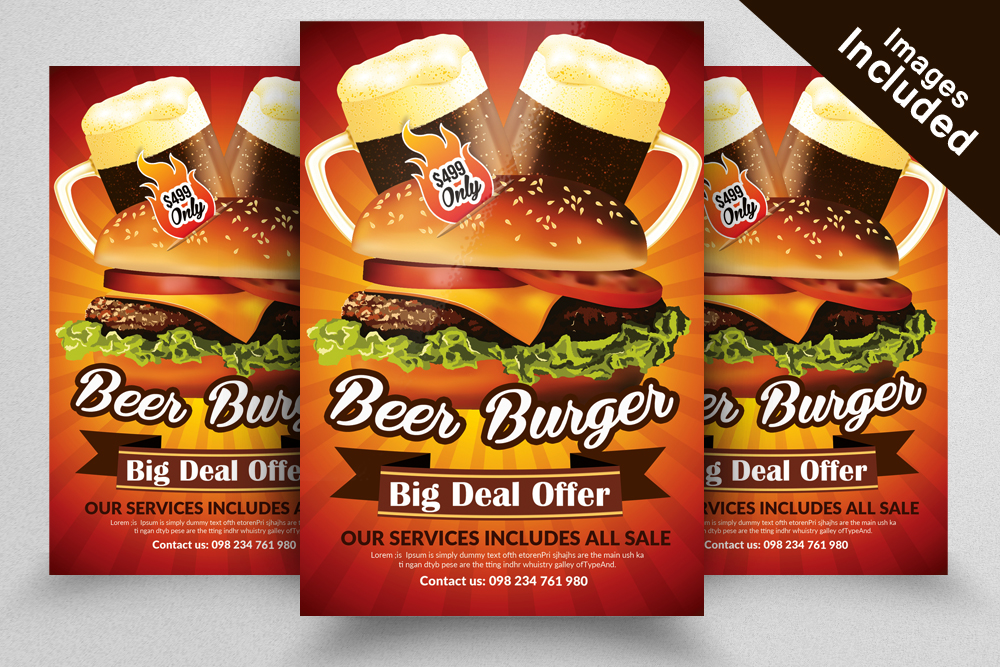 10 Restaurant Flyer Template Bundle example image 7