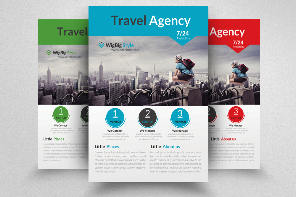 6 Tour Travel & Holiday Agency Flyers Bundle example image 2