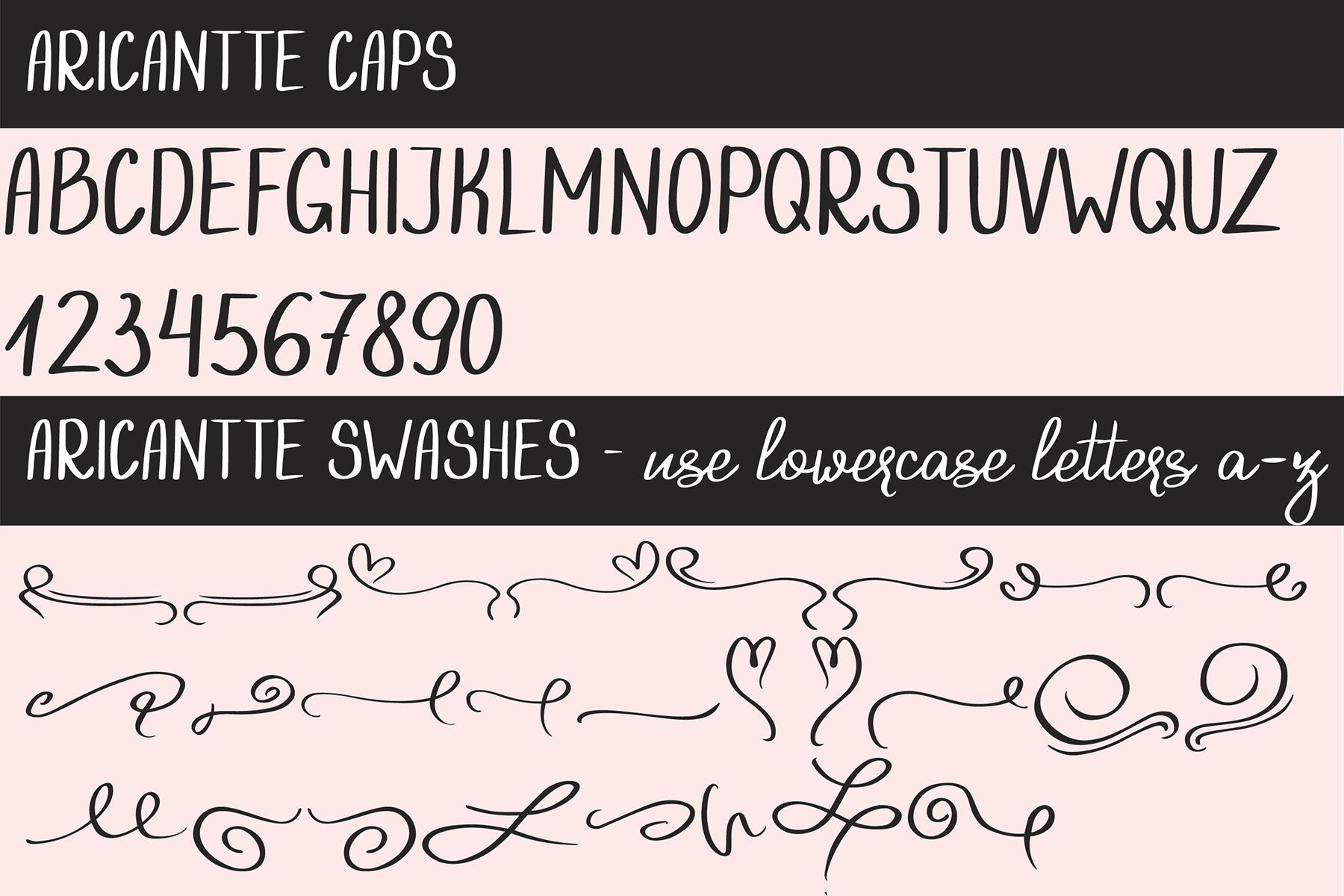 Aricantte - Handwritten Font Duo example image 6