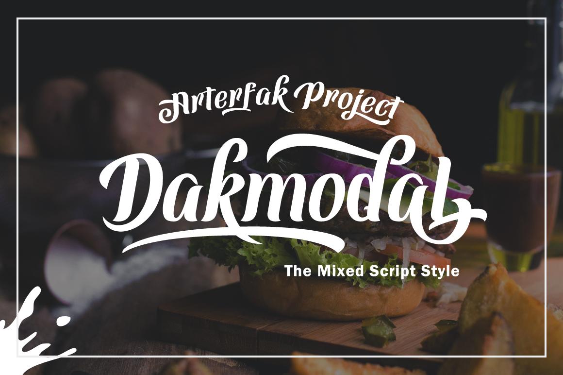 Dakmodal Typeface example image 1