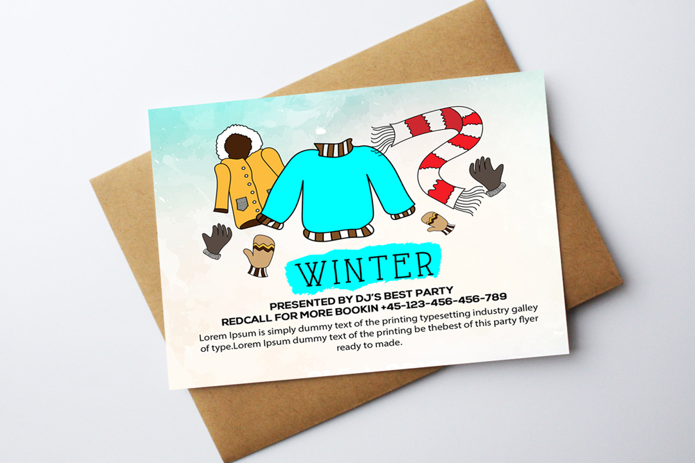 Winter Card Template example image 2
