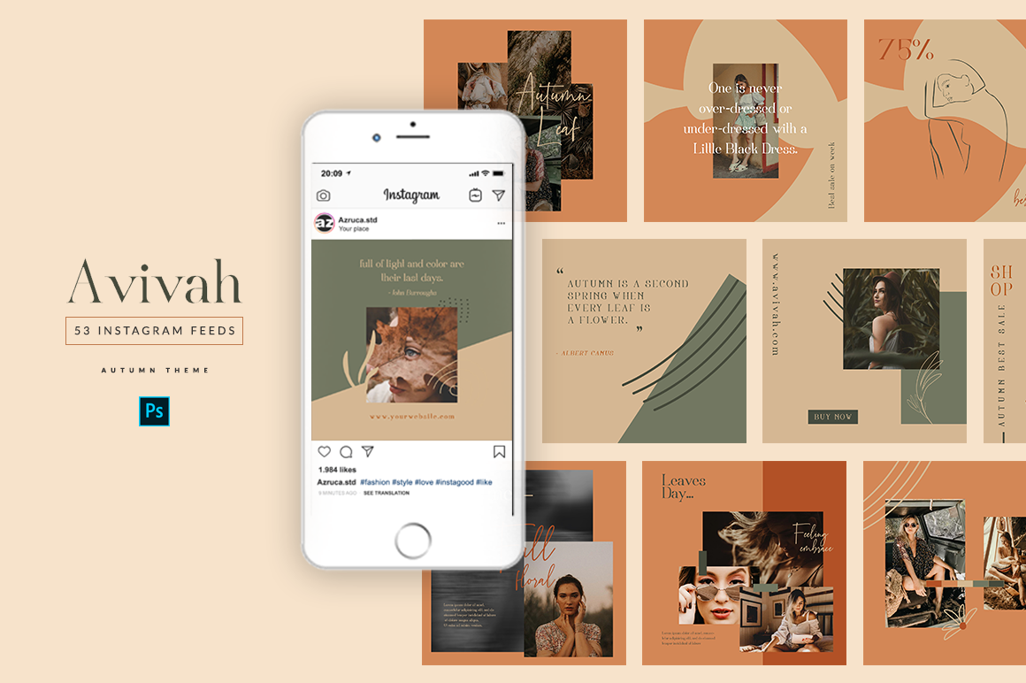 Avivah Autumn Instagram Feed example image 1