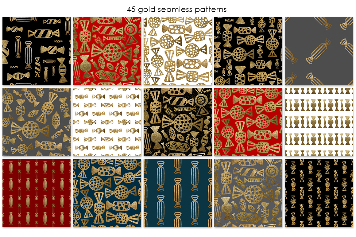 GOLD CANDY patterns set example image 4