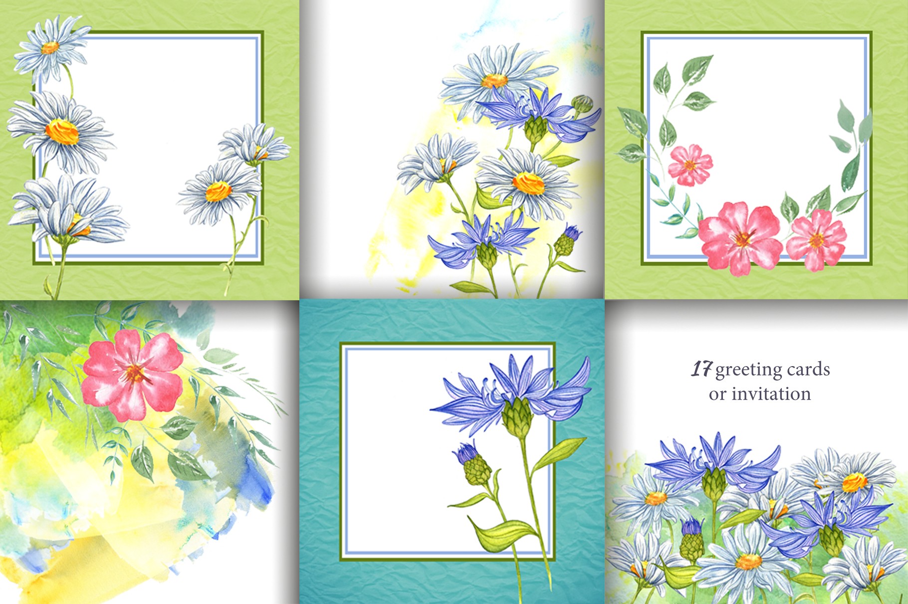Wildflowers and herbs gentle watercolor collection example image 4