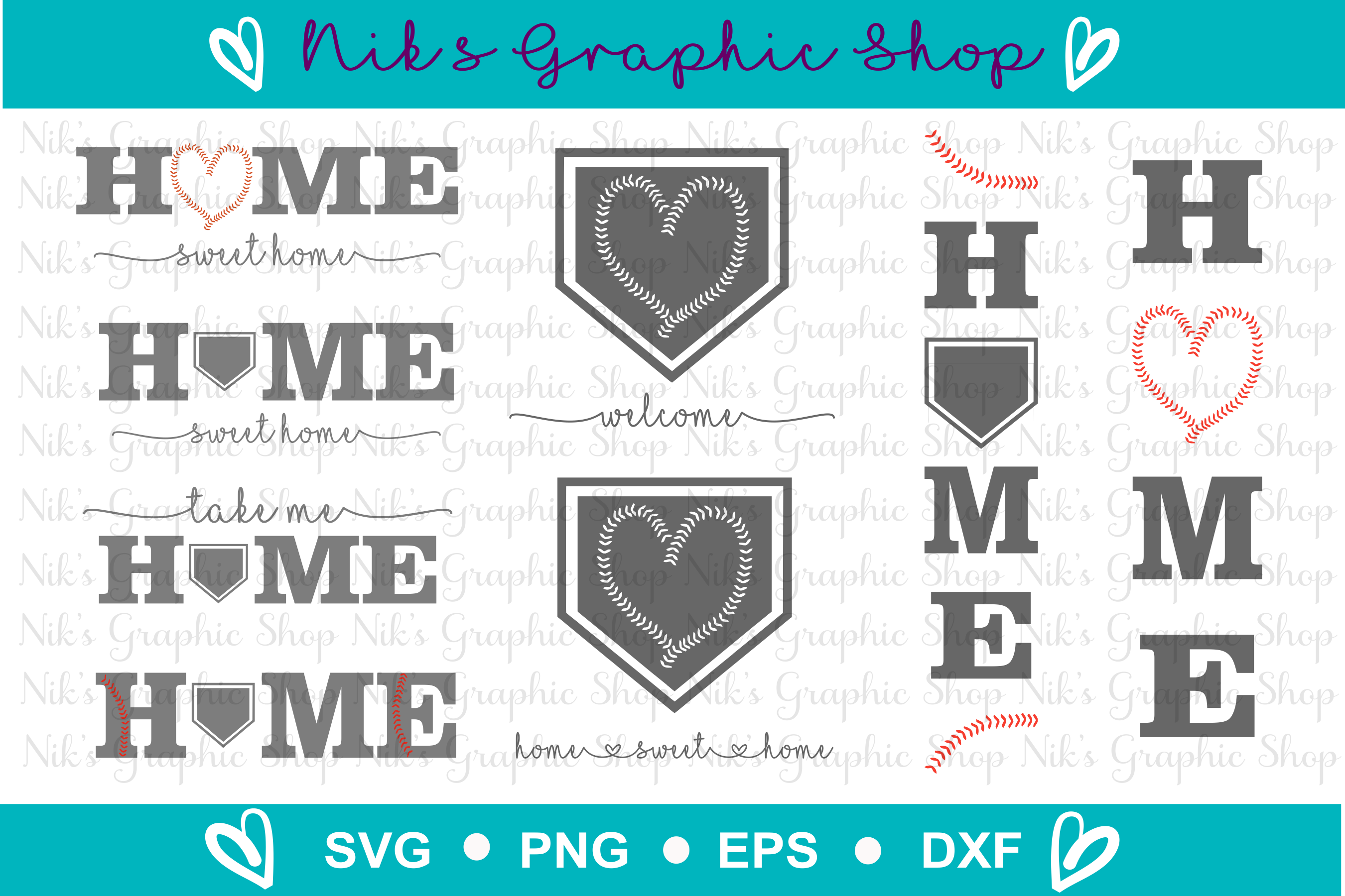 Baseball Svg, Home Sign Svg, Home Svg, Baseball Home Svg example image 1