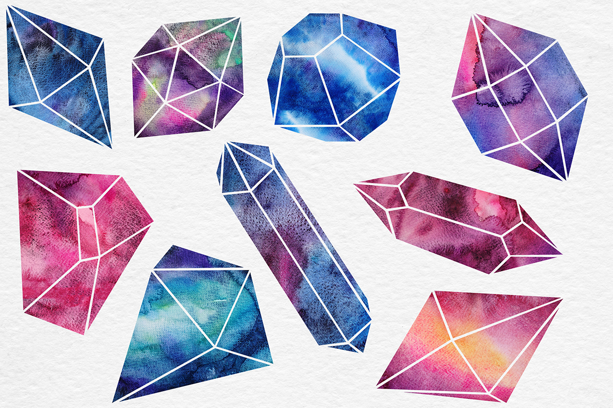 Watercolor Crystals Collection example image 3