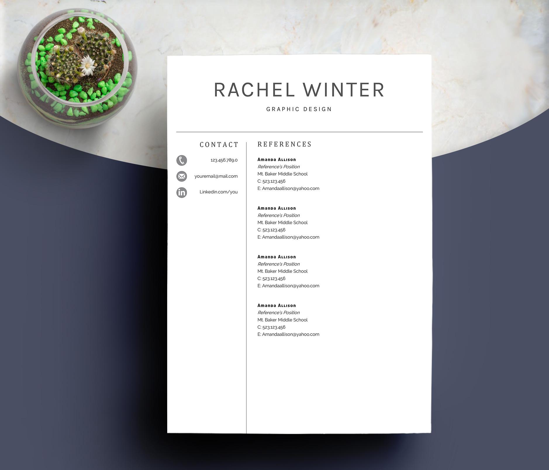 Creative Resume Template example image 6