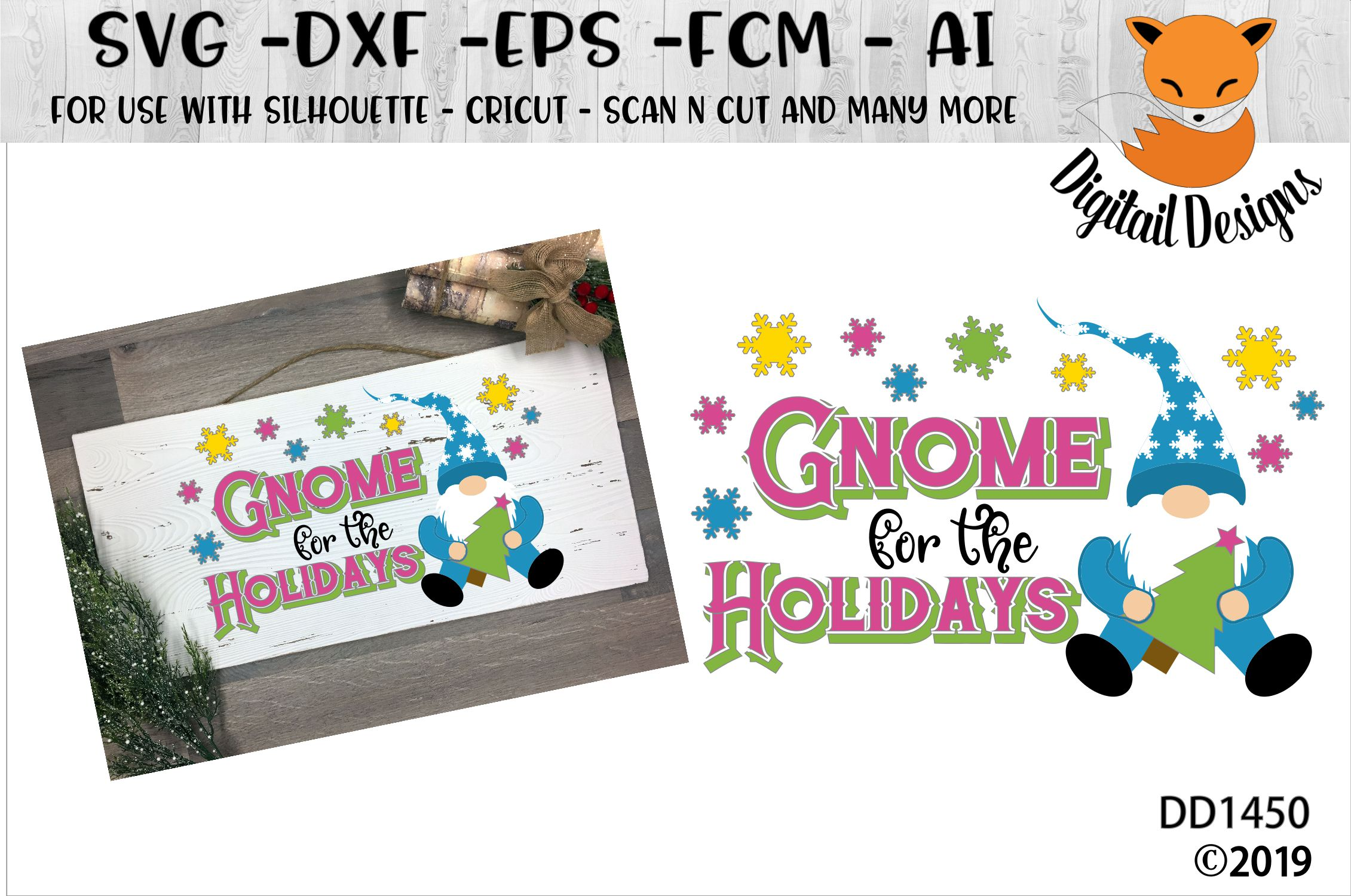 Gnome For the Holidays SVG example image 1