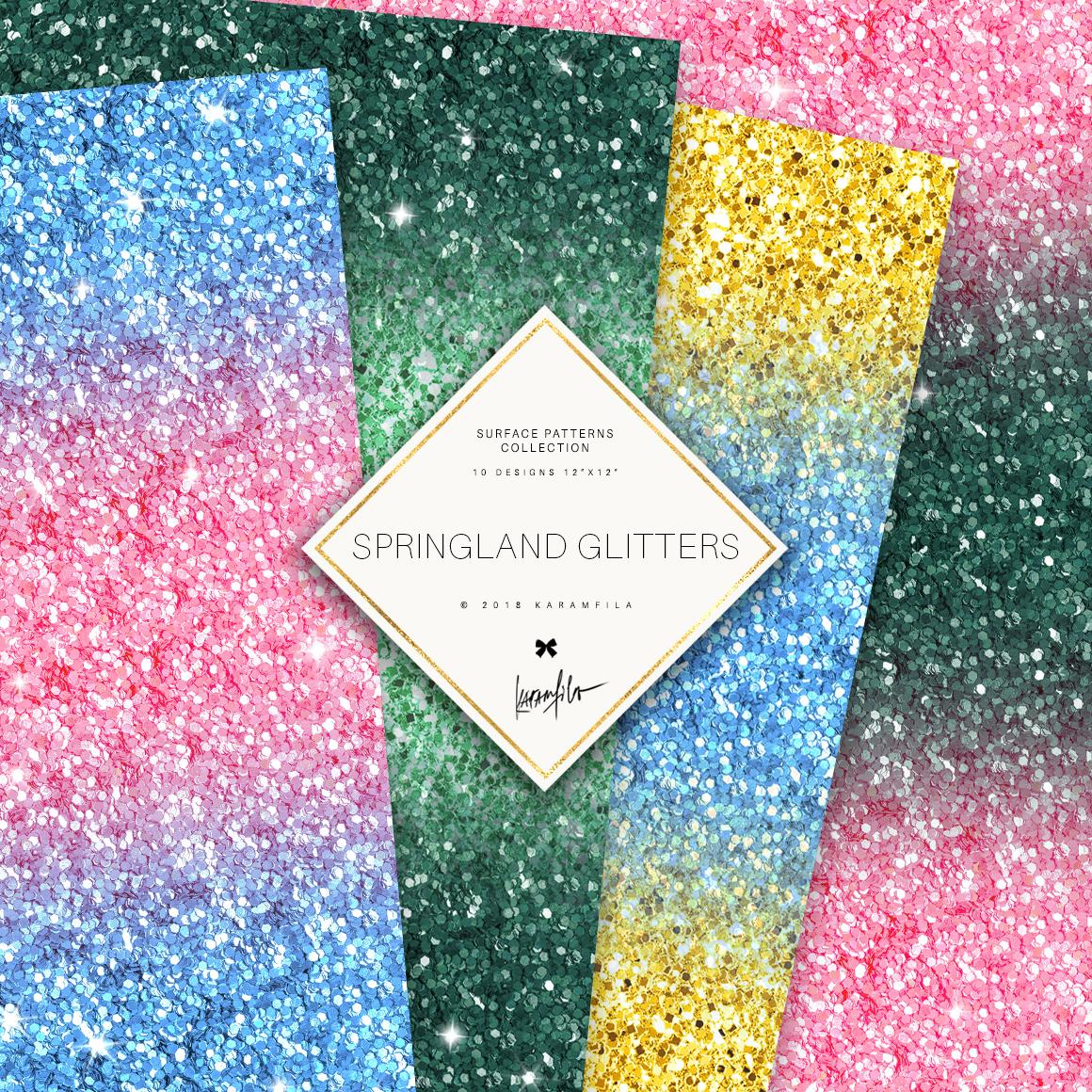 Karamfila's Springland Glitter Textures example image 4