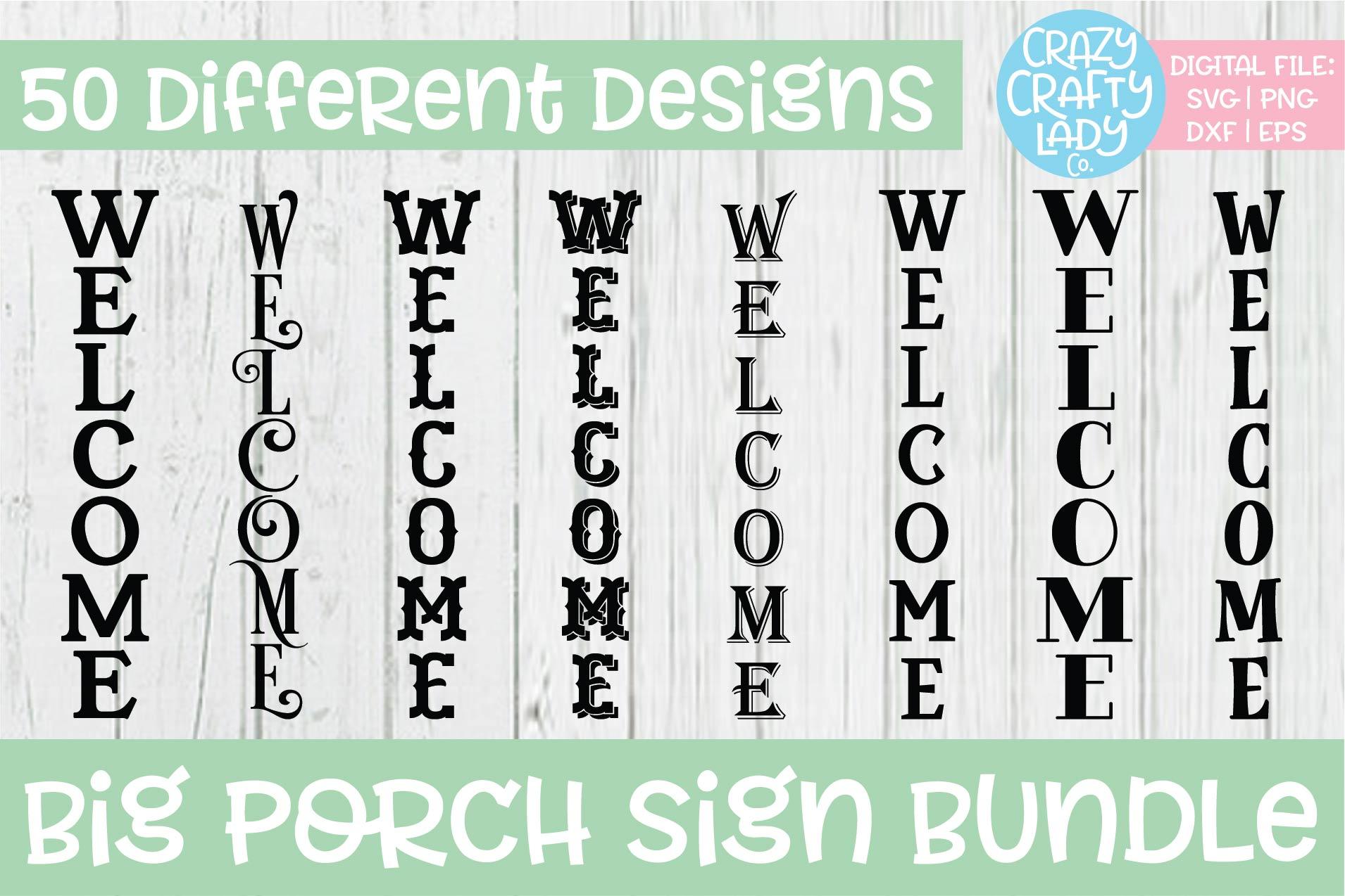 Big Porch Sign SVG DXF EPS PNG Cut File Bundle example image 5