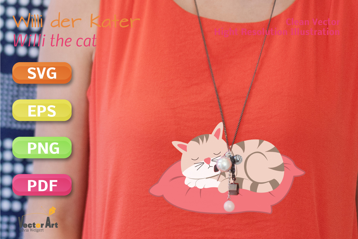 Sleeping Cat - SVG File for Crafters example image 5