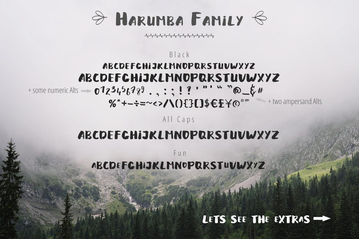 Harumba Brush font example image 4