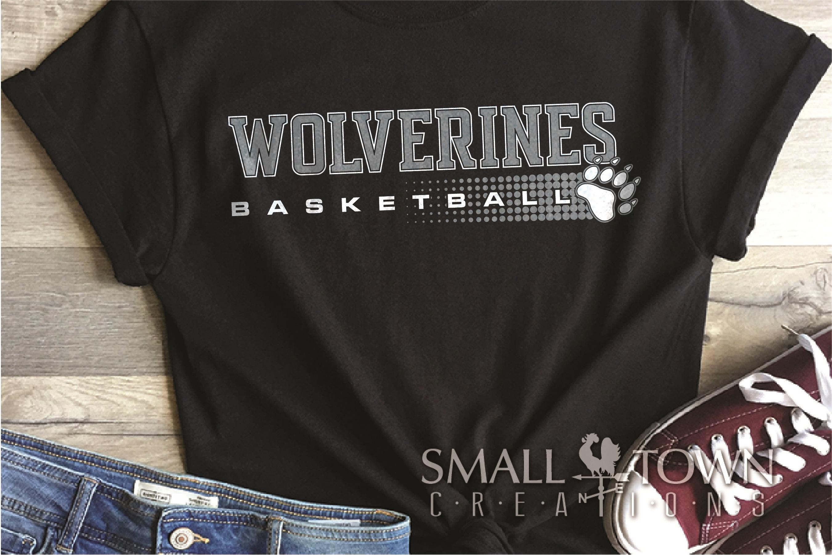 Wolverine, Basketball, Sport, Team, Logo, PRINT, CUT, DESIGN example image 1