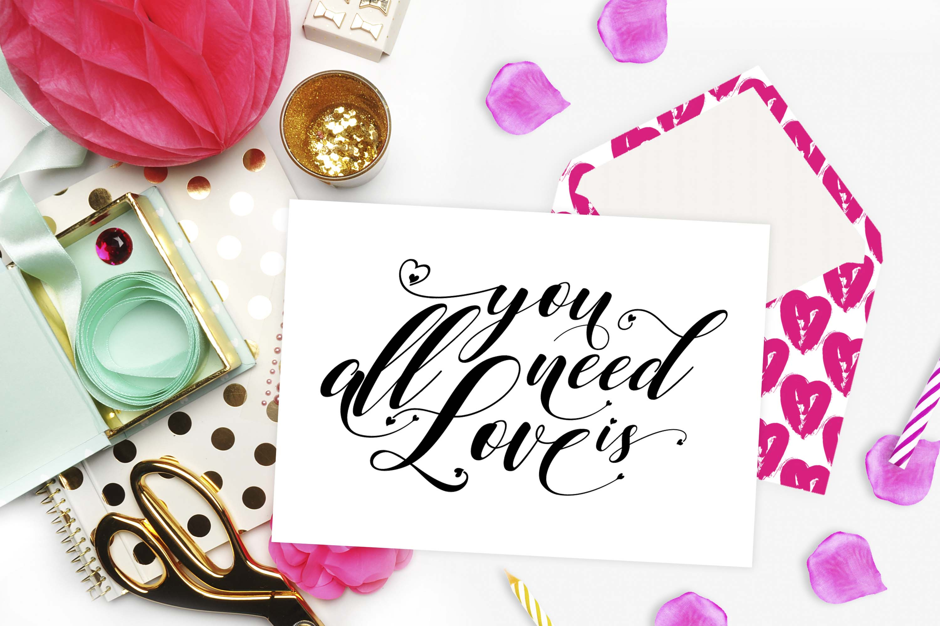 All you need is Love SVG DXF PNG EPS example image 2