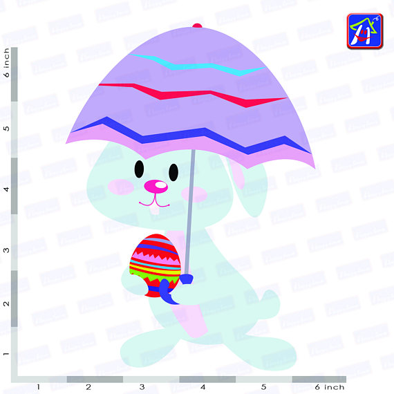 Easter bunny clip art - Personal and commercial use - Easter example image 7