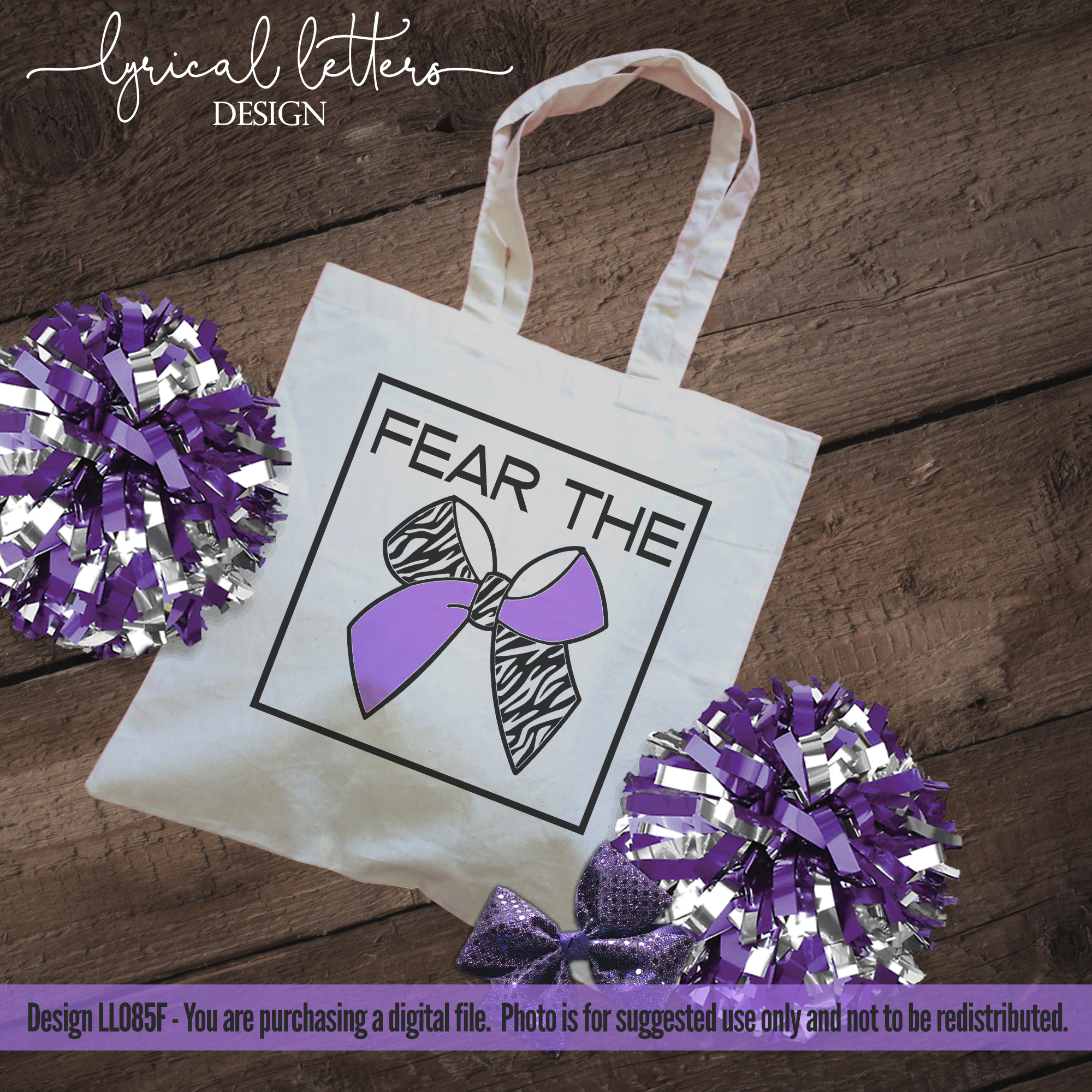 Fear the Bow Cheerleader SVG DXF Cut File LL085F example image 2