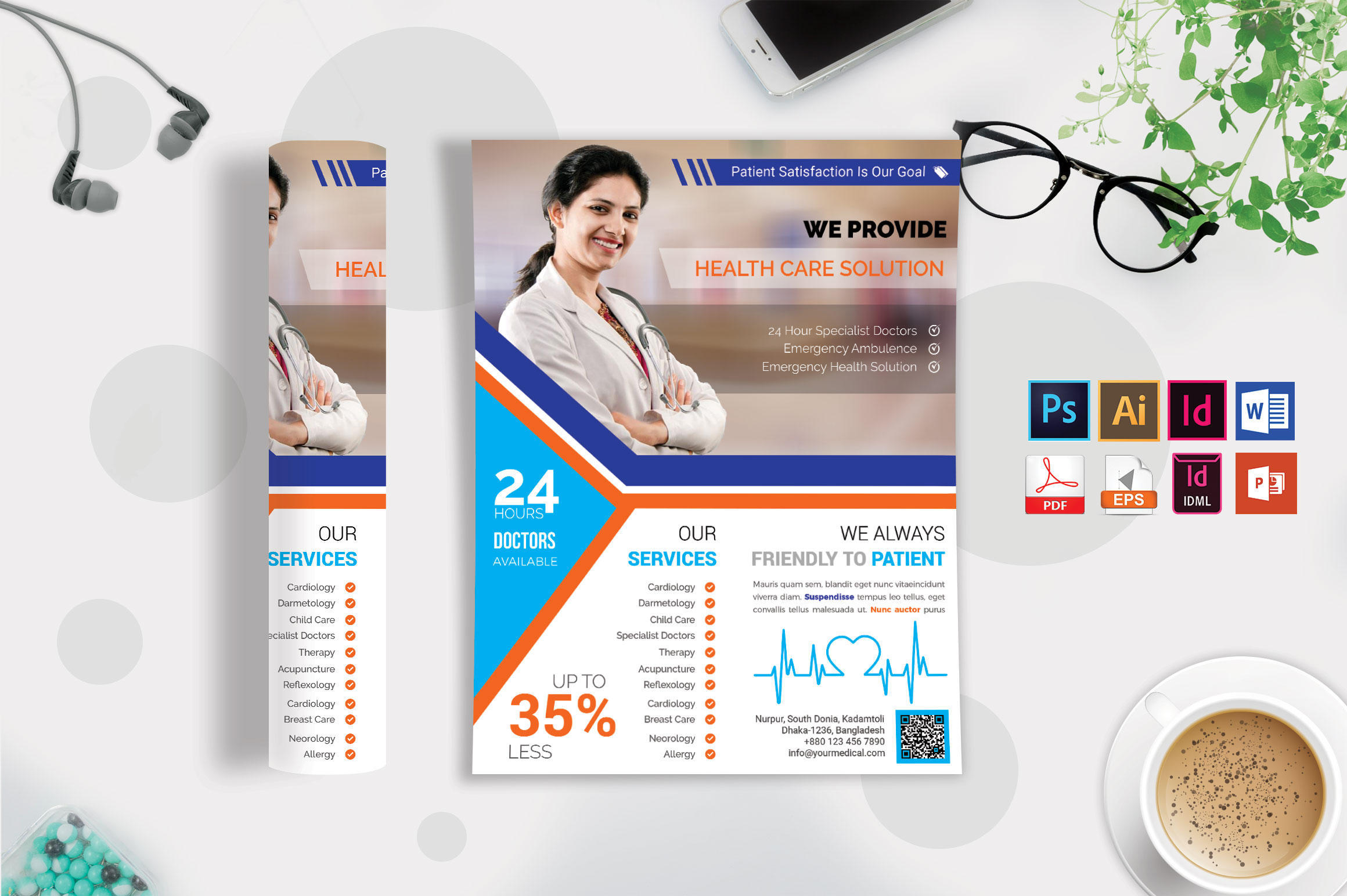 Doctor & Medical Flyer. Vol-10 example image 2