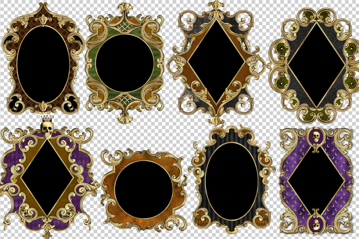 Ornate Halloween Frames Clipart example image 3