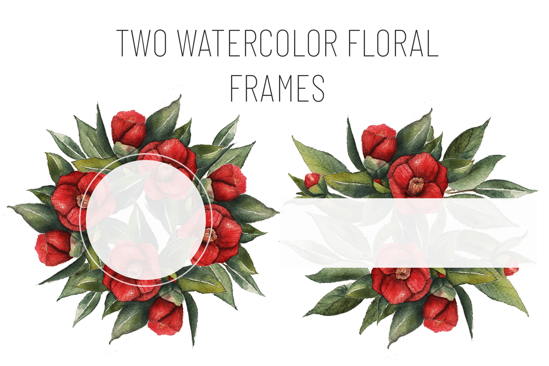 Watercolor Floral Collection example image 7