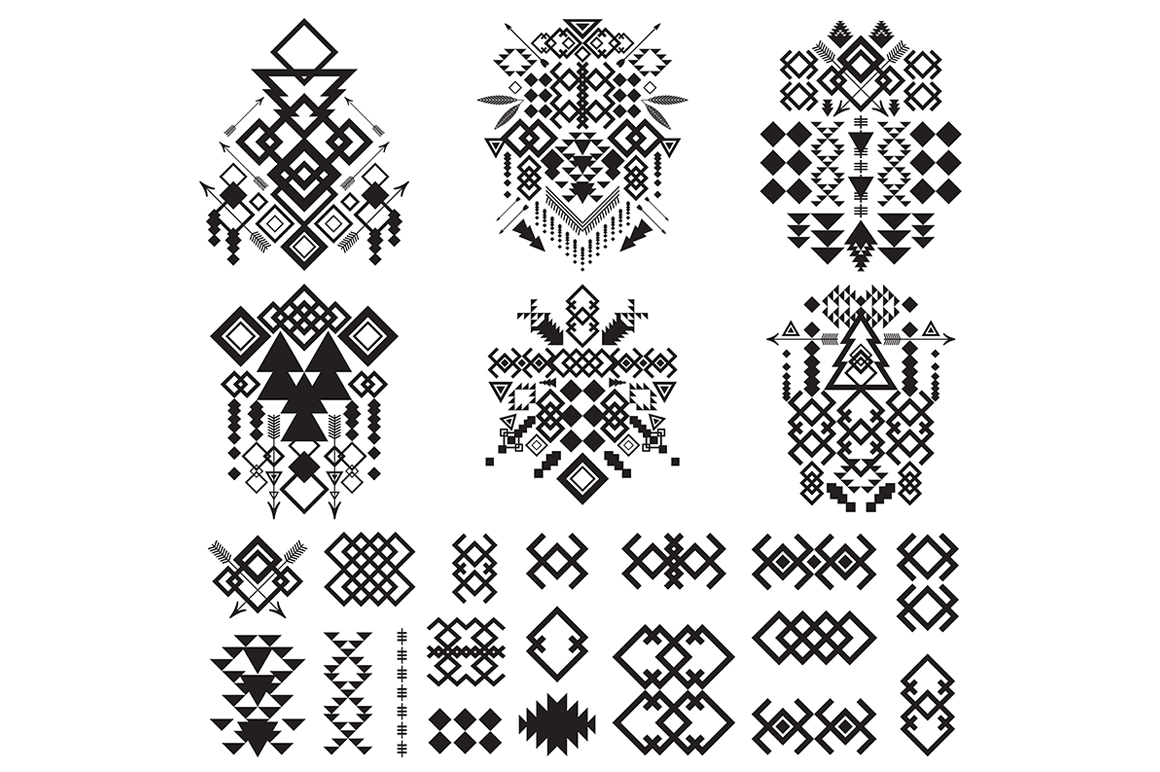 55 Tribal Design Elements Collection example image 5