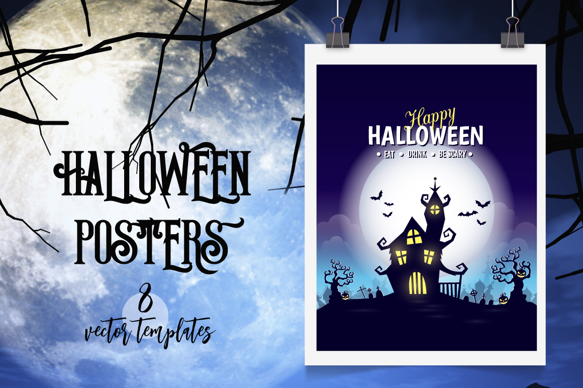 Halloween vector posters example image 1