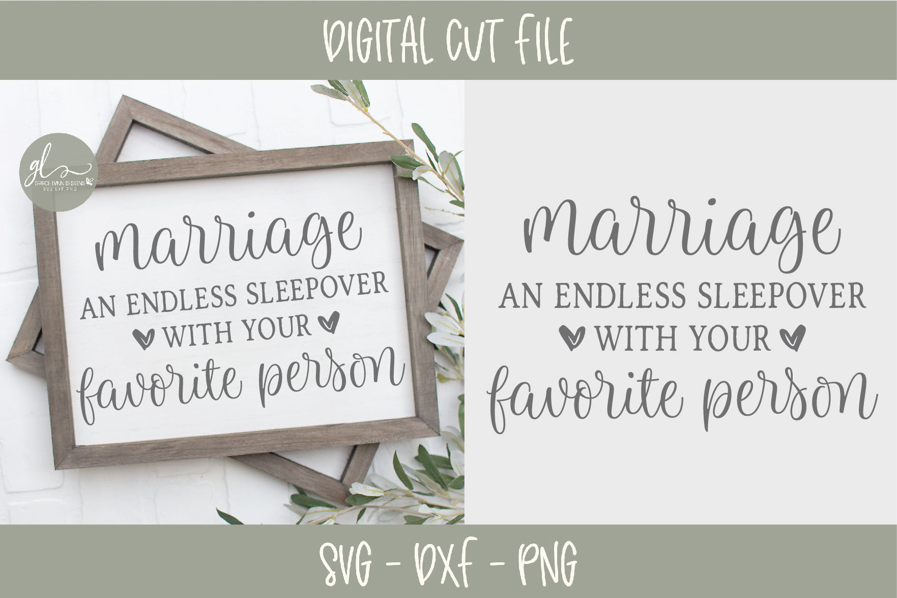 Marriage An Endless Sleepover With Your Favorite Person SVG example image 1