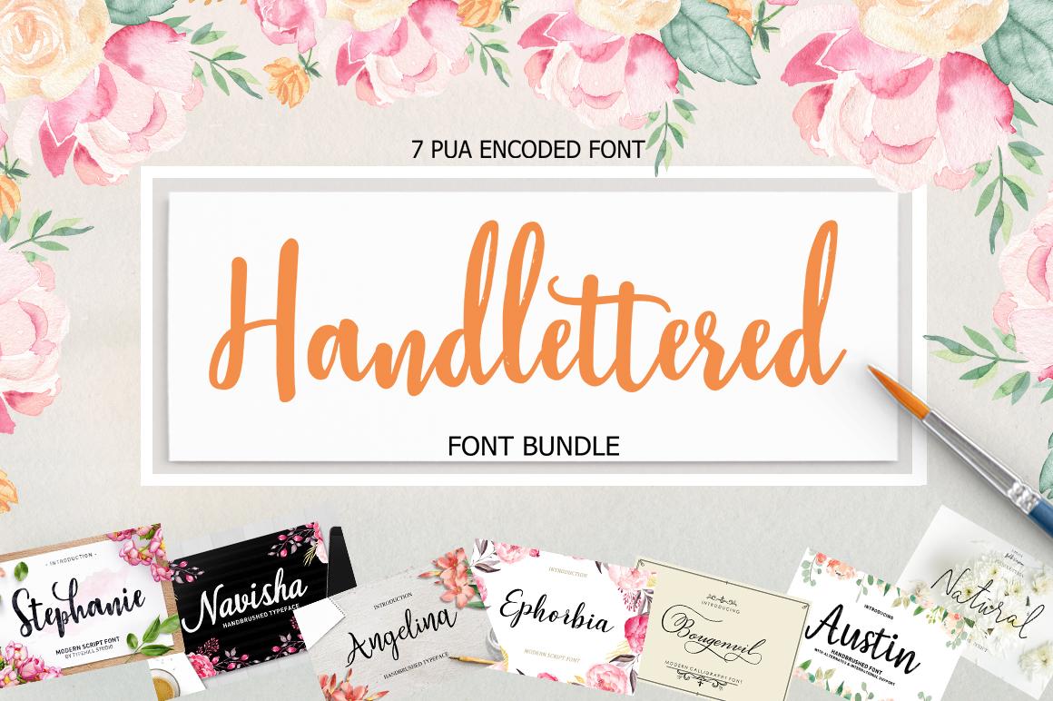 Handlettered Font Bundle example image 1