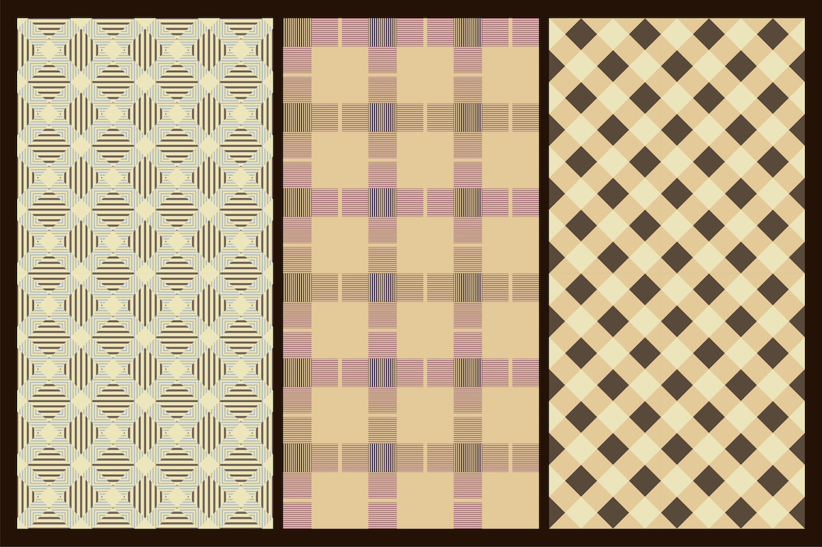 Colorful seamless textile patterns example image 5
