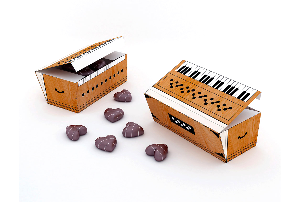 DIY Harmonium favor - 3d papercraft example image 3