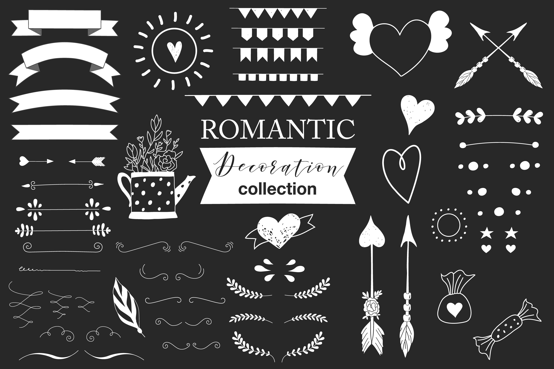 Hand drawn Romantic design kit example image 9
