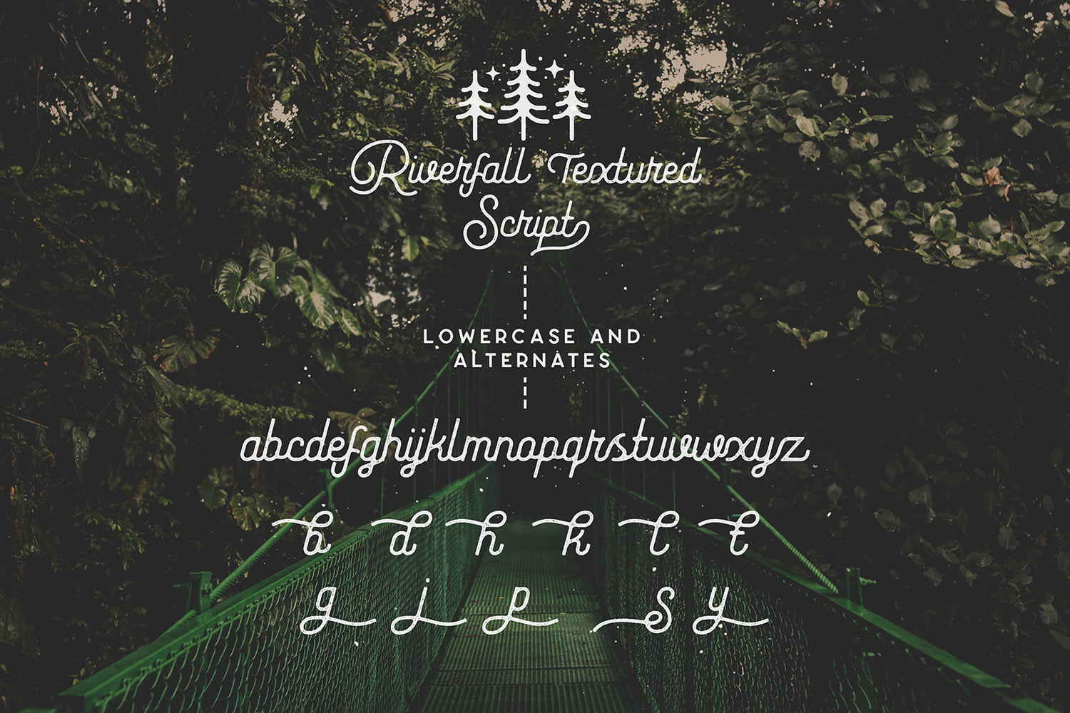 Riverfall Semi Rounded Textured Typeface Ver.2 example image 9