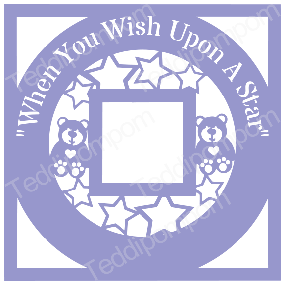 Baby Boy Baby Girl SVG Scan Photo Papercut Frame, When You Wish Upon A Star, cricut silhouette svg Papercutting, Card Making,Digital Upload example image 1