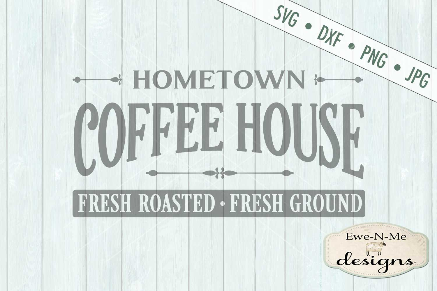 Hometown Coffee House SVG DXF Files example image 2