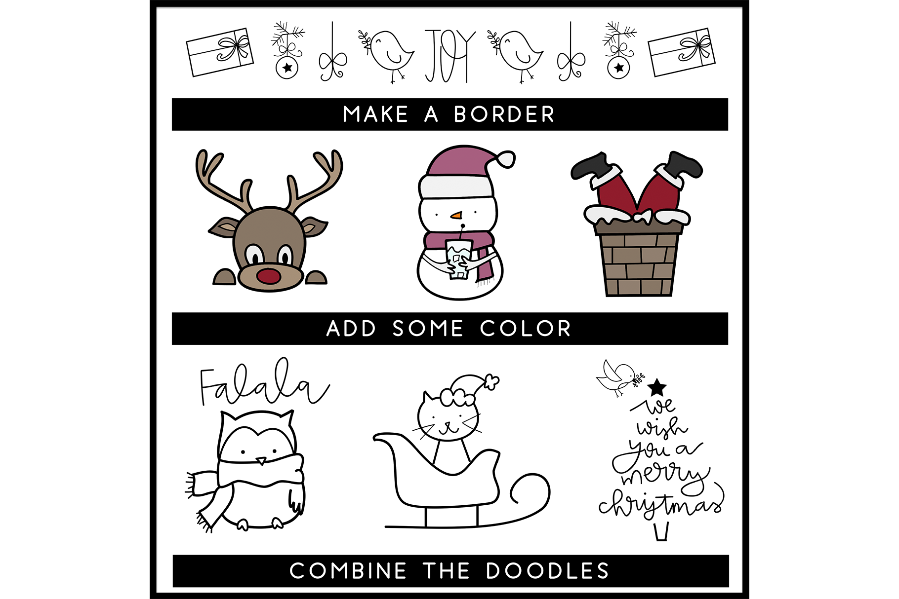 Merry and Bright - A Christmas / Winter Doodles Font example image 5