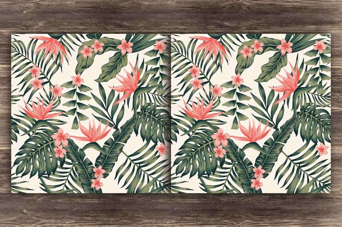 Abstract seamless tropical pattern example image 2