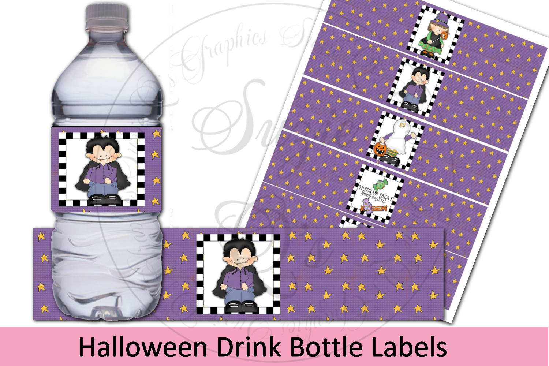 Halloween Water Bottle Labels example image 1