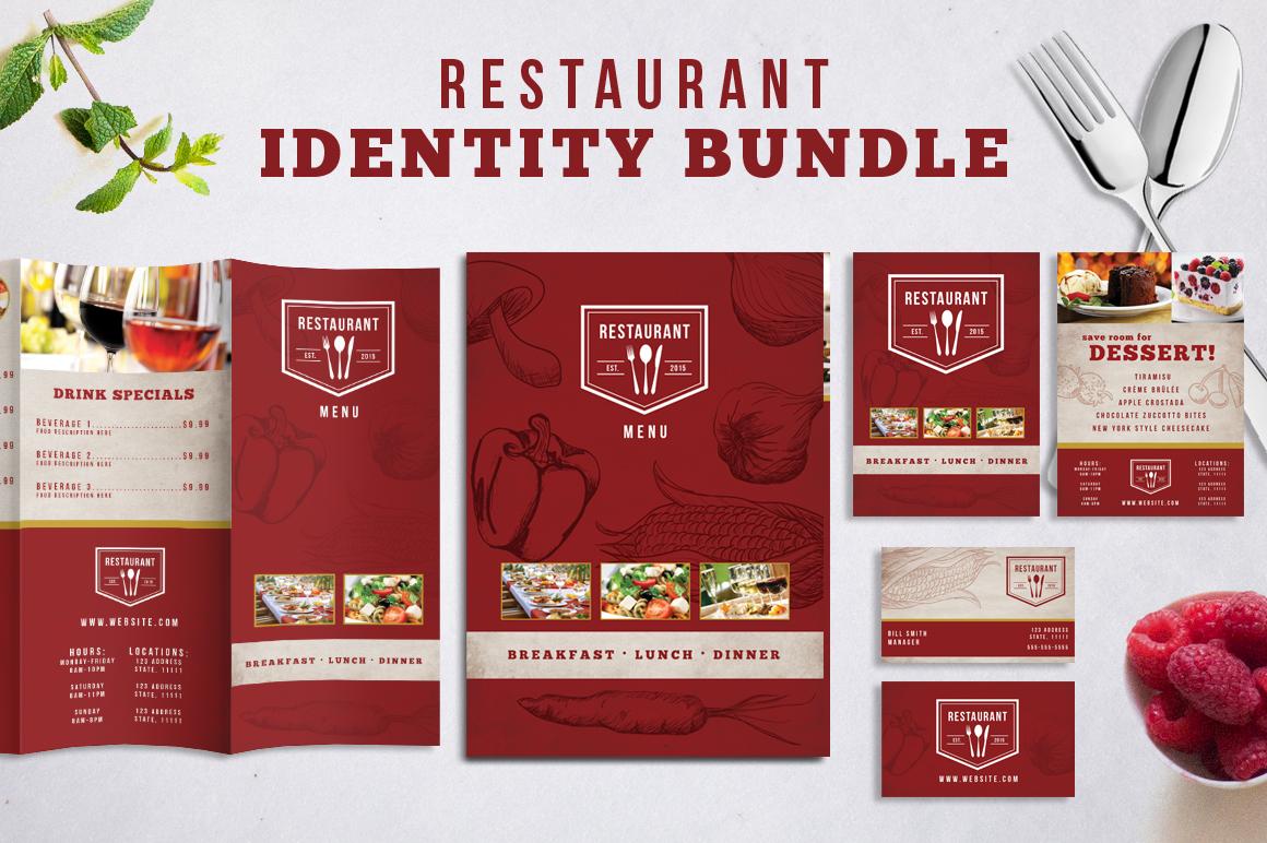 Restaurant Identity Bundle example image 1