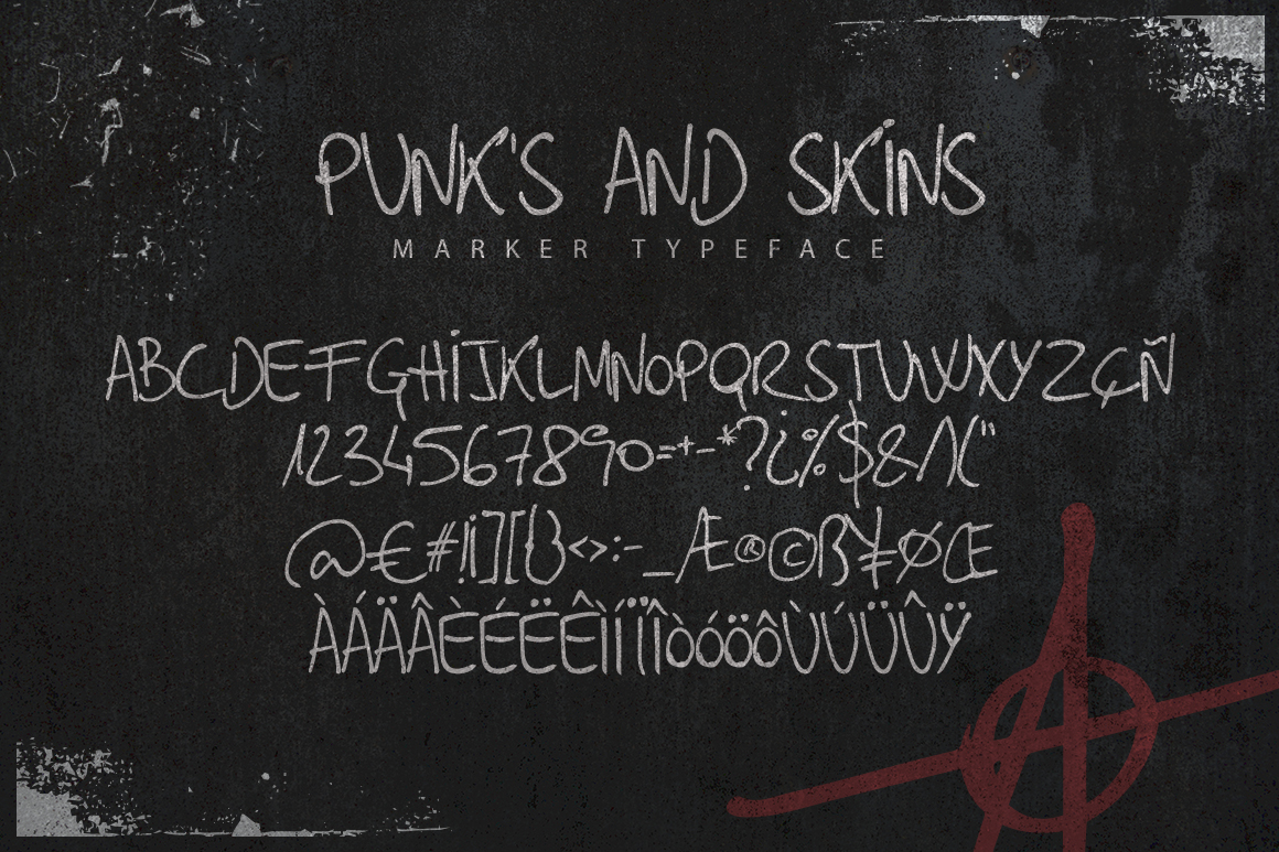 Punk's and Skins Typeface example image 2