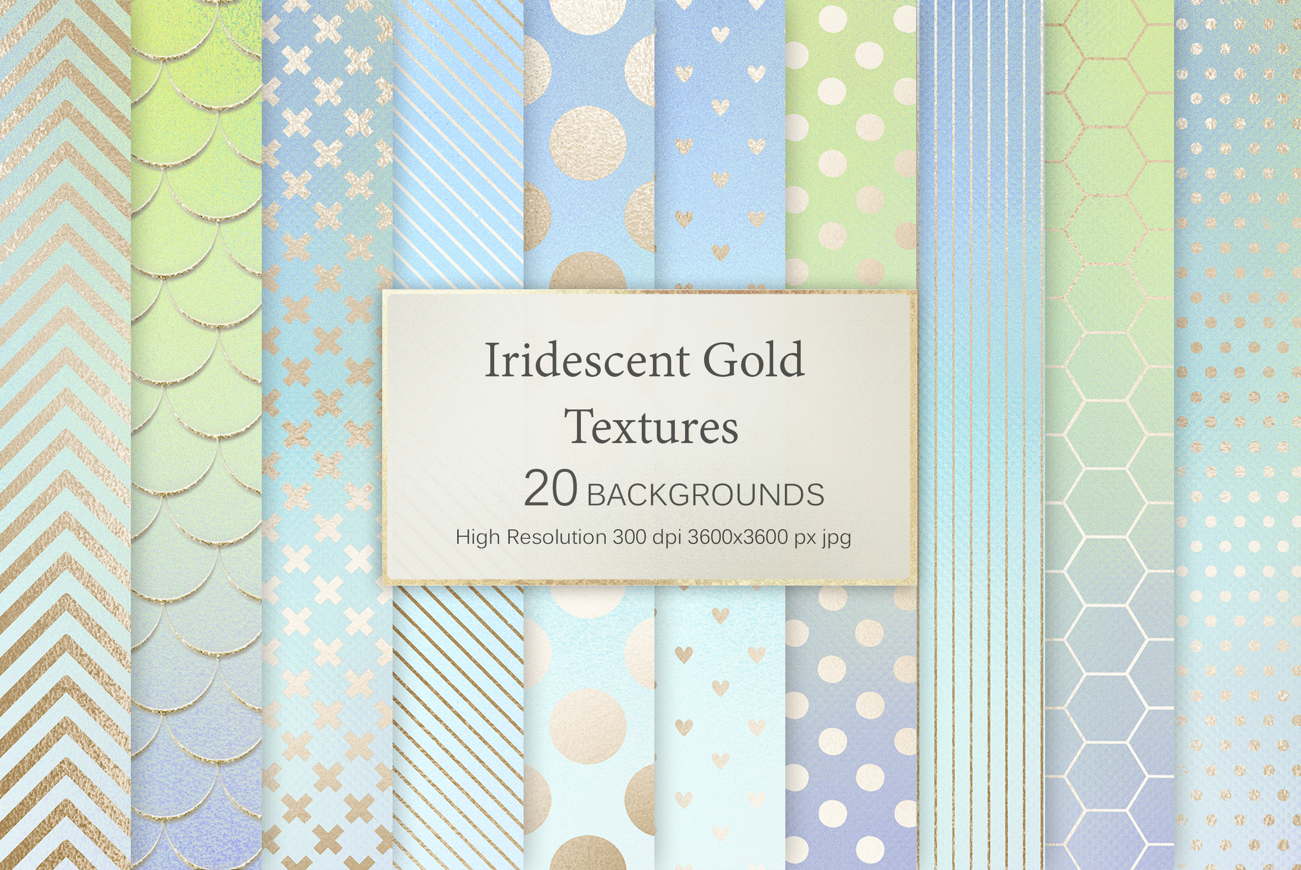 Iridescent Gold Marble & Black and Silver Marble Textures example image 9