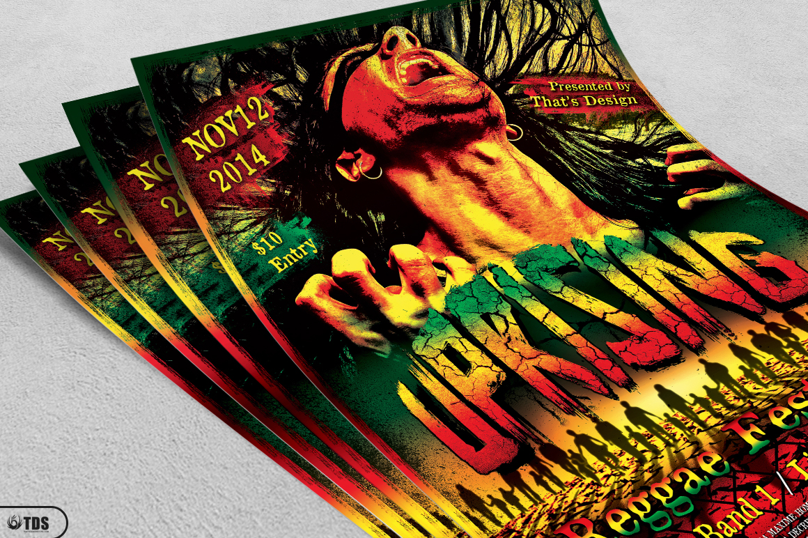 Reggae Uprising Flyer Template example image 3