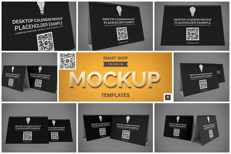 Desktop Calendar Mockup example image 1
