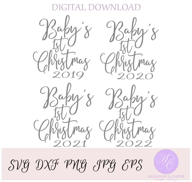 Baby's First Christmas SVG example image 2