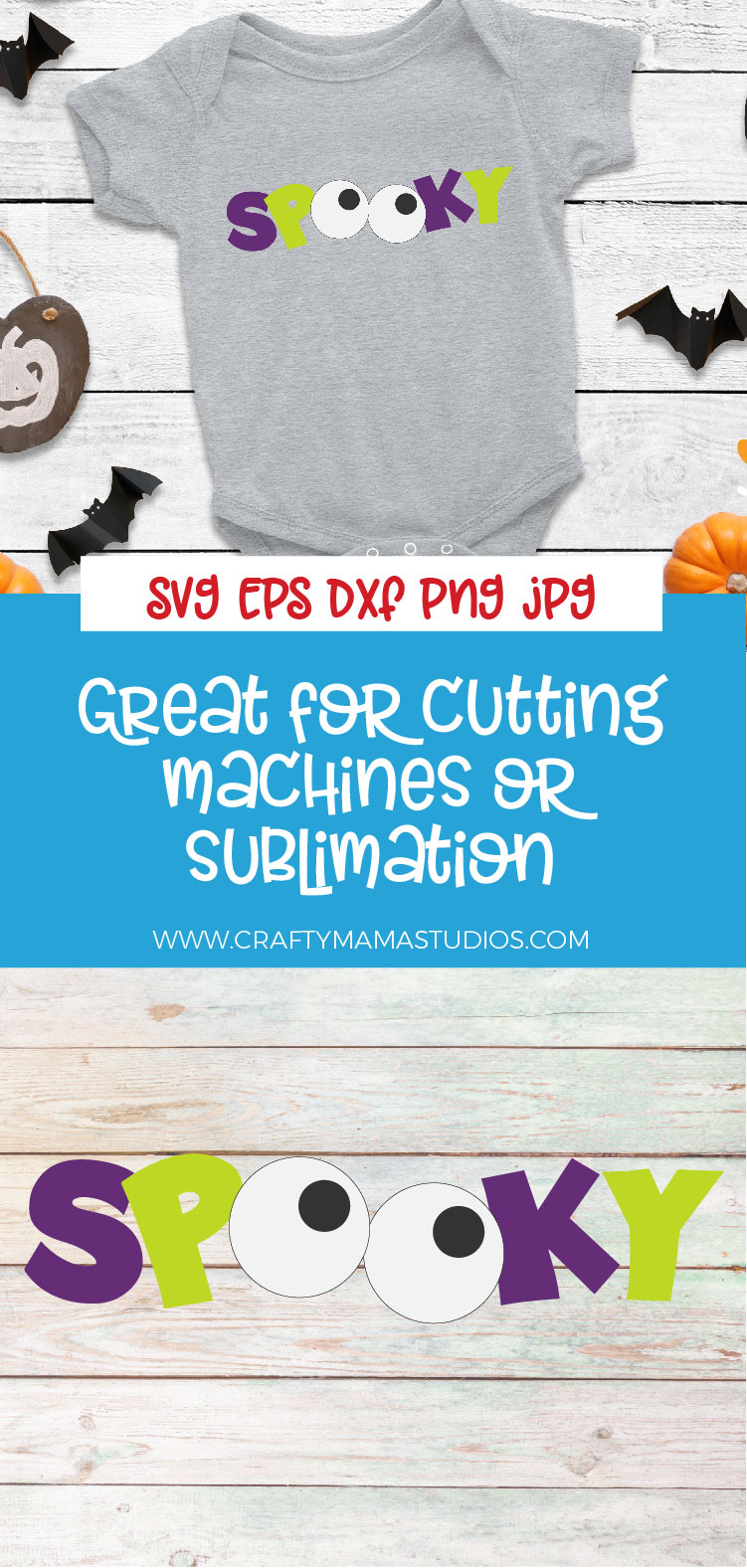 Spooky Halloween SVG Sublimation, Halloween Eyes SVG example image 3