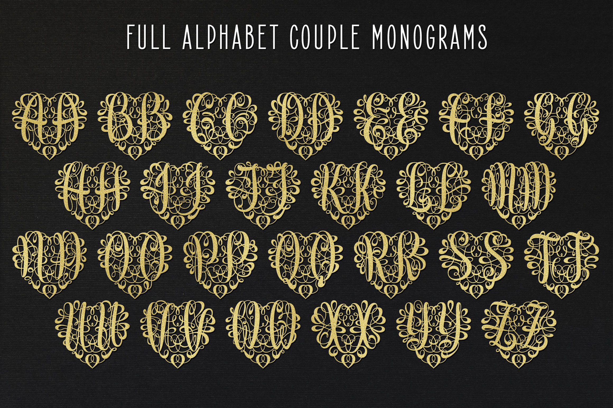 676 Heart Monograms | Ready for Papercut example image 3