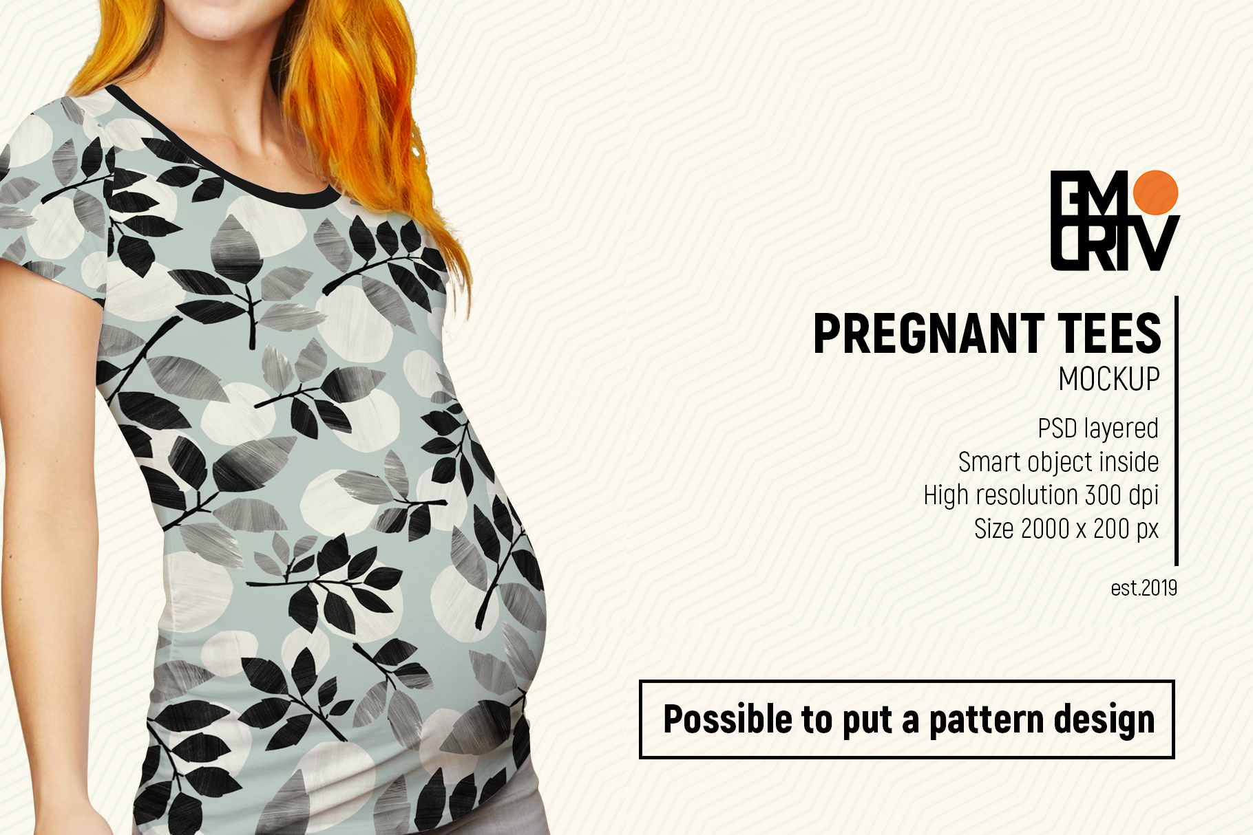Pregnant Tees Mockup example image 6
