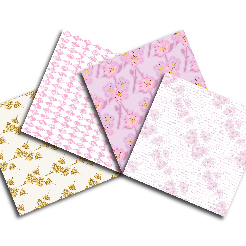 Cherry Blossom Digital Paper example image 4