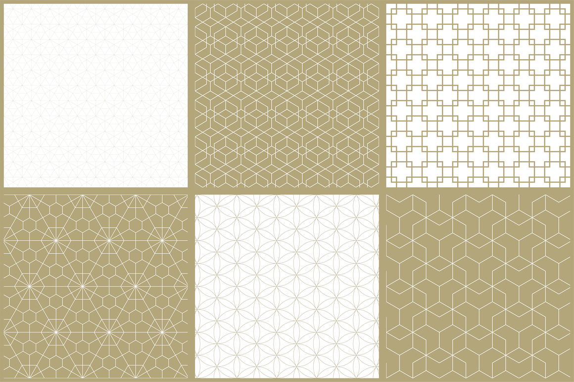 Vector ornamental seamless patterns example image 13