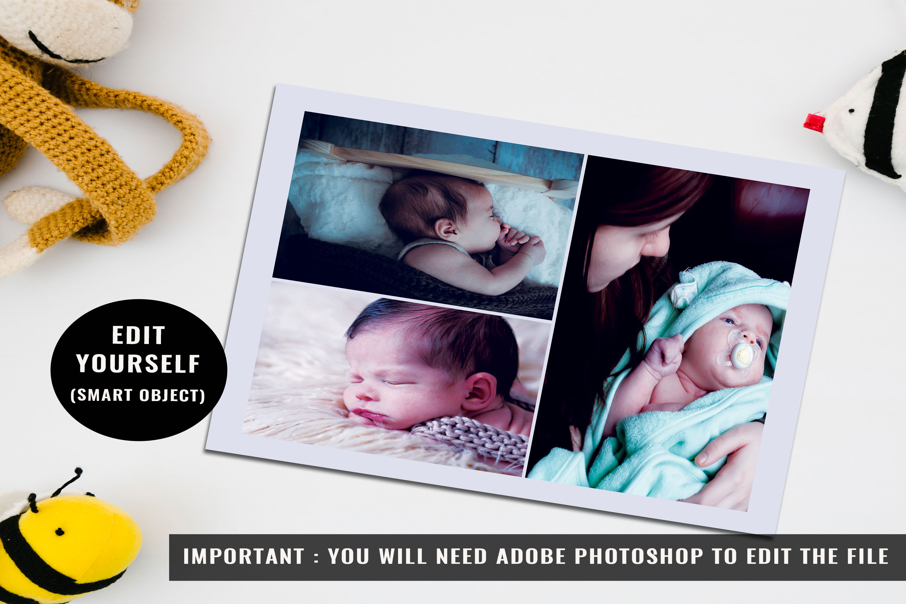 Baby Shower Announcement Card Template example image 2