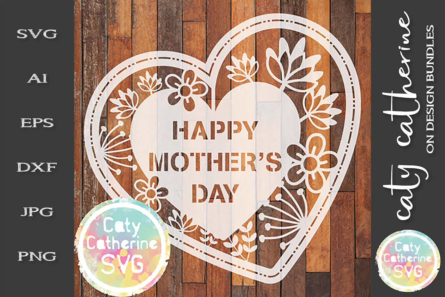 Happy Mother's Day SVG Paper Cut File example image 1